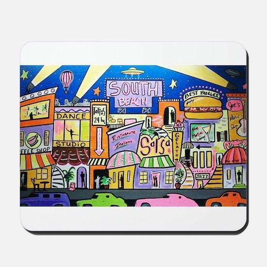 Design #32 SOuth Beach Miami Nightlife Mousepad