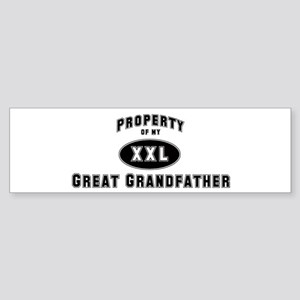 Property of Great Grandfather Bumper Sticker
