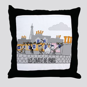 The Cats of Paris - Les Chats de Paris Throw Pillo