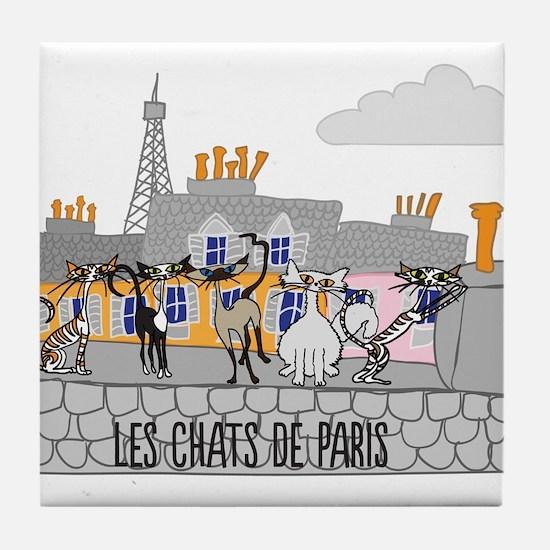 The Cats of Paris - Les Chats de Paris Tile Coaste