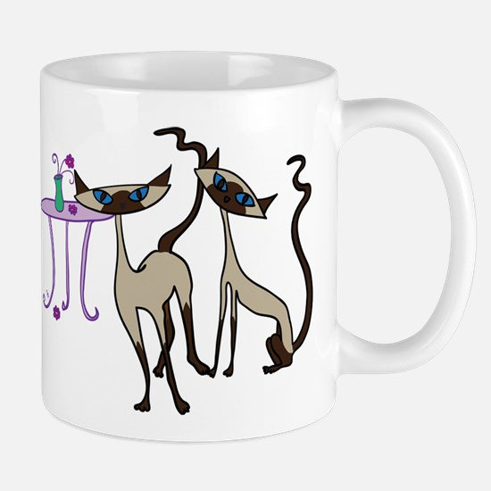 Siamese Cats looking for mischief Mug