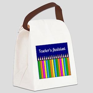 Teachers Assistant Canvas Lunch Bag