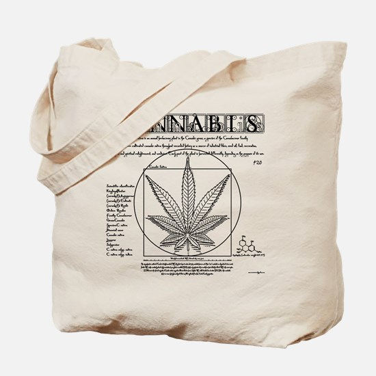 Vitruvian Grass Tote Bag