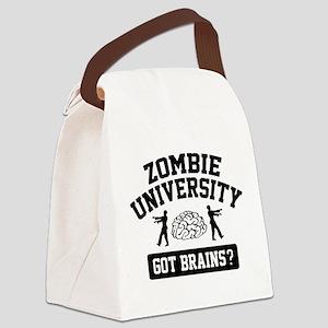 Zombie University Canvas Lunch Bag