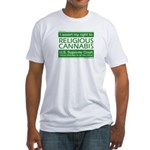 Religious Cannabis Fitted T-Shirt