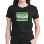 Religious Cannabis Women's Dark T-Shirt