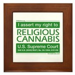 Religious Cannabis Framed Tile