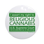 Religious Cannabis Ornament (Round)