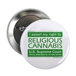 "Religious Cannabis 2.25"" Button (10 pack)"