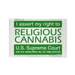 Religious Cannabis Rectangle Magnet