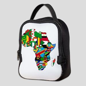 Flag Map of Africa Neoprene Lunch Bag