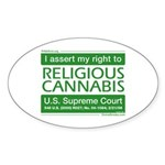 Religious Cannabis Oval Sticker