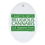 Religious Cannabis Oval Ornament