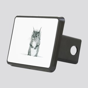 Cute Squirrel Drawing Rectangular Hitch Cover
