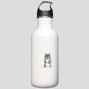 Cute Squirrel Drawing Sports Water Bottle