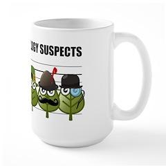 The Usual Genealogy Suspects Large Mug