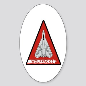 F-14 Tomcat VF-1 Wolfpack Oval Sticker