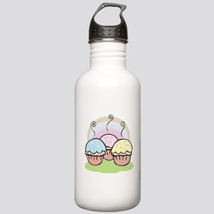 three cute little cupcakes Stainless Water Bottle