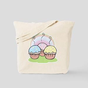 three cute little cupcakes Tote Bag