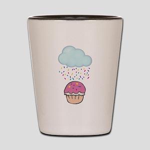 Cute Raining Sprinkles on Cupcake Shot Glass