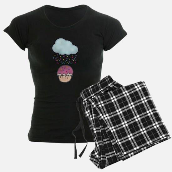Cute Raining Sprinkles on Cupcake Pajamas