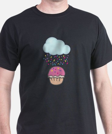 Cute Raining Sprinkles on Cupcake T-Shirt