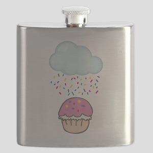 Cute Raining Sprinkles on Cupcake Flask