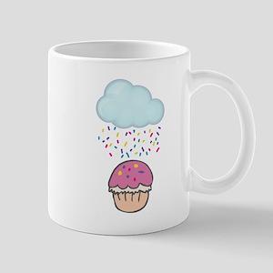Cute Raining Sprinkles on Cupcake Mug