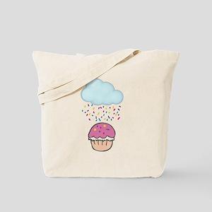 Cute Raining Sprinkles on Cupcake Tote Bag