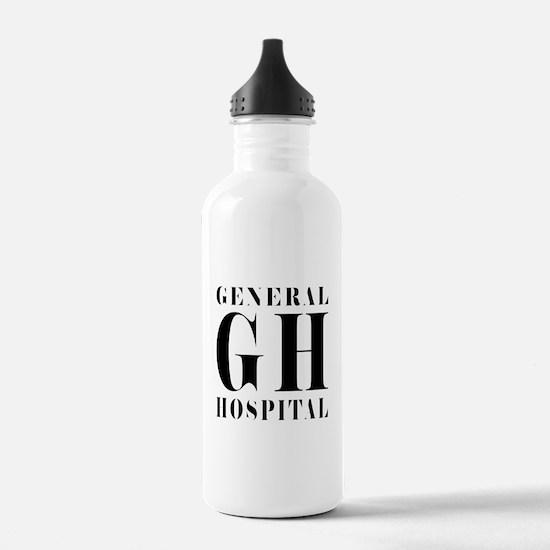 General Hospital Black Water Bottle