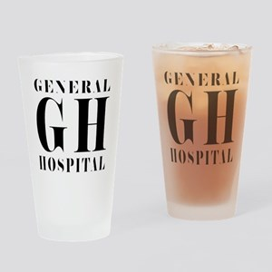 General Hospital Black Drinking Glass