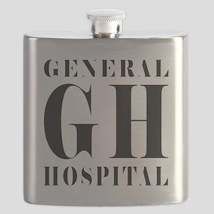 General Hospital Black Flask