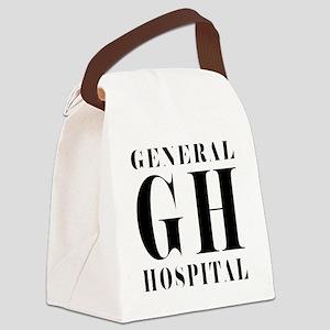 General Hospital Black Canvas Lunch Bag