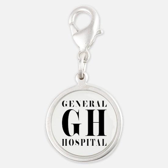 General Hospital Black Silver Round Charm