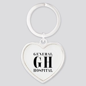 General Hospital Black Heart Keychain