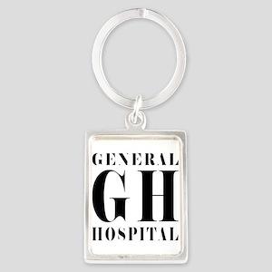 General Hospital Black Portrait Keychain
