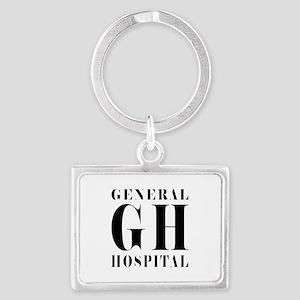 General Hospital Black Landscape Keychain