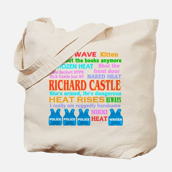 Richard Castle Funny Quotes Tote Bag