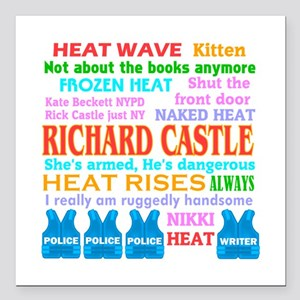 "Richard Castle Funny Quotes Square Car Magnet 3"" x"