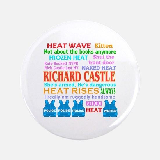 "Richard Castle Funny Quotes 3.5"" Button"