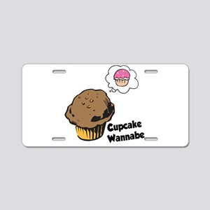 Funny Cupcake Wannabe Muffin Aluminum License Plat