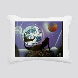 The Mermaid Rectangular Canvas Pillow