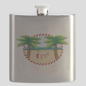 Christmas Stocking Beach Flask