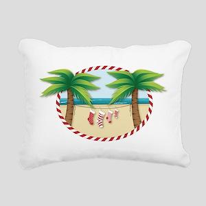 Christmas Stocking Beach Rectangular Canvas Pillow