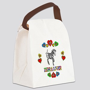 Zebra Lover Canvas Lunch Bag