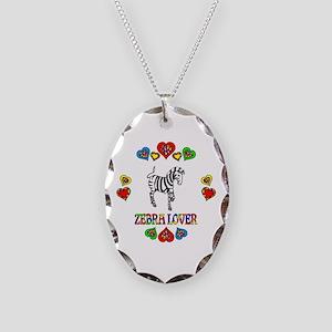 Zebra Lover Necklace Oval Charm