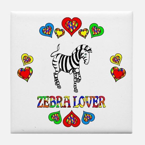 Zebra Lover Tile Coaster