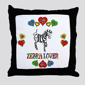 Zebra Lover Throw Pillow