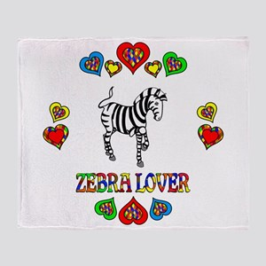 Zebra Lover Throw Blanket