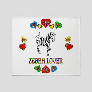 Zebra Lover Throw Blanket